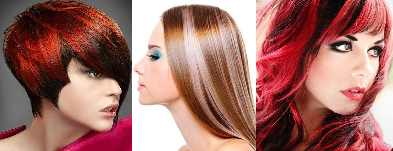 Покраска двумя красками волосы