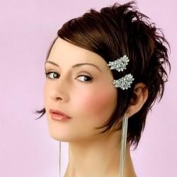 свадебная прическа на короткие волосы фото