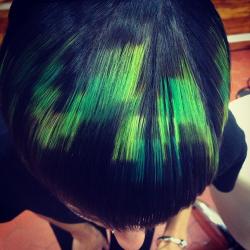пиксельное окрашивание волос в салоне
