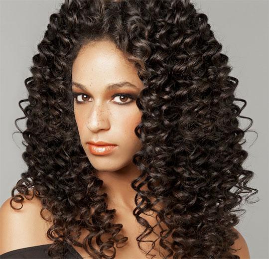 Химическая завивка волос крупные локоны на длинные