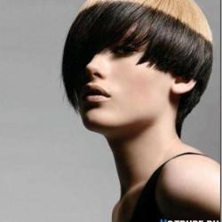 окрашивание в два цвета короткие волосы