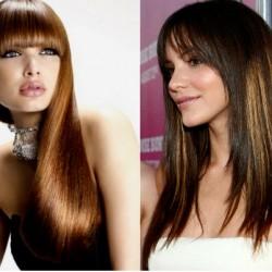 модные женские стрижки на длинные волосы